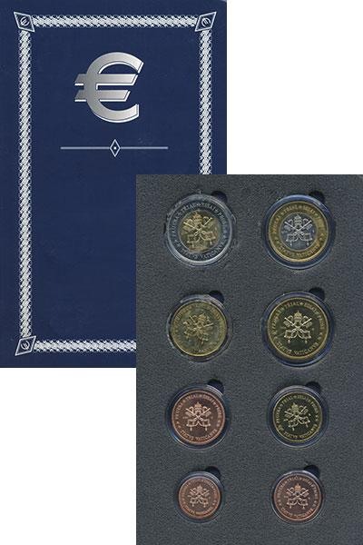 Изображение Подарочные монеты Ватикан Европроба 2005 2005  UNC- Набор фантазийных ев