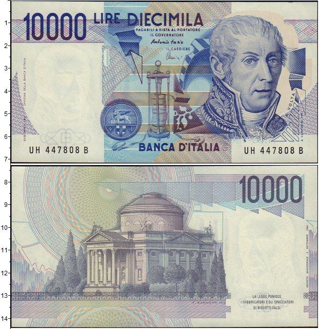 Картинка Банкноты Италия 10.000 песет  1984
