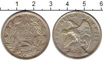 Изображение Монеты Чили 1 песо 1925 Серебро XF-