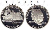Изображение Монеты США 1 доллар 1990 Серебро Proof-