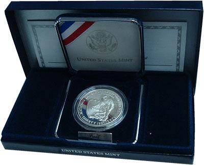Изображение Подарочные монеты США Офицерский мемориал 1997 Серебро Proof Подарочная монета но