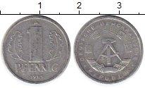 Изображение Монеты ГДР 1 пфенниг 1985 Алюминий UNC-