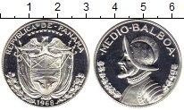 Изображение Монеты Панама 1/2 бальбоа 1968 Серебро UNC-