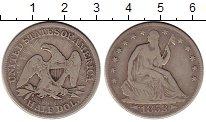 Изображение Монеты США 1/2 доллара 1853 Серебро VF