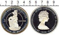 Изображение Монеты Великобритания Теркc и Кайкос 25 крон 1978 Серебро Proof-