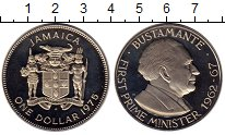 Изображение Монеты Ямайка 1 доллар 1975 Медно-никель Proof-