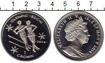 Монета Остров Мэн 1 крона Серебро 2014 Proof фото