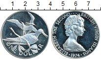 Изображение Монеты Виргинские острова 1 доллар 1974 Серебро Proof-