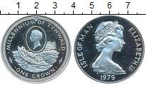 Изображение Монеты Великобритания Остров Мэн 1 крона 1979 Серебро Proof-