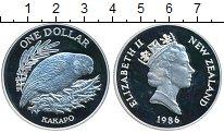 Изображение Монеты Новая Зеландия 1 доллар 1986 Серебро Proof-