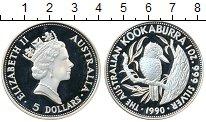 Изображение Монеты Австралия 5 долларов 1990 Серебро Proof-
