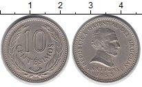 Изображение Монеты Уругвай 10 сентесим 1953 Медно-никель XF