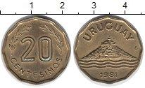 Изображение Монеты Уругвай 20 сентесим 1981 Латунь XF
