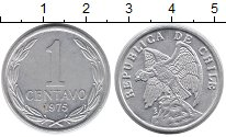 Изображение Монеты Чили 1 сентаво 1975 Алюминий UNC-