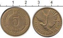 Изображение Монеты Чили 5 сентесим 1969 Латунь XF