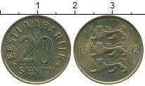 Изображение Дешевые монеты Эстония 20 сенти 1992