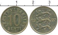 Изображение Дешевые монеты Эстония 10 сенти 1997