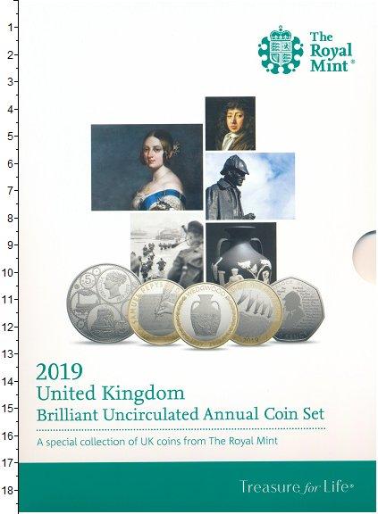 Изображение Подарочные монеты Великобритания Набор 2019 года 2019  BUNC В набор входят восем
