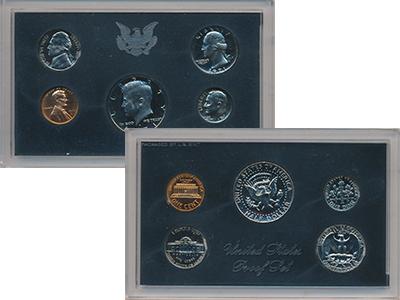 Изображение Подарочные монеты США Годовой выпуск 1972 1972 Медно-никель AUNC В наборе 5 монет ном