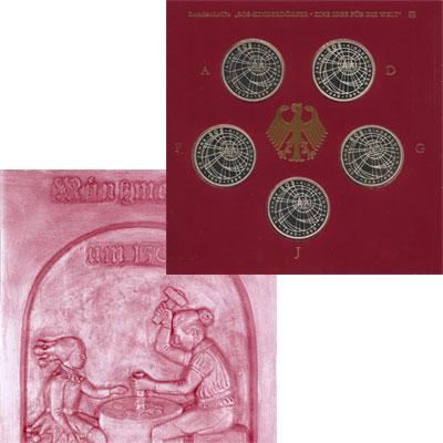 Изображение Подарочные монеты Германия 50-летие SOS-Kinderdorfer 1999 Серебро Proof Памятный набор посвя