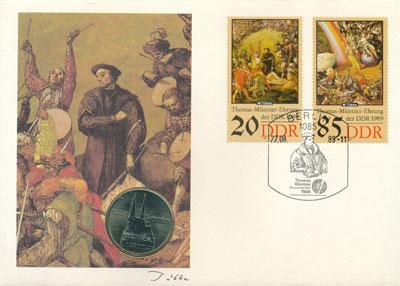 Изображение Подарочные монеты ГДР Церковь Святой Екатерины в Цвиккау 1989 Медно-никель UNC Представляем вам наб