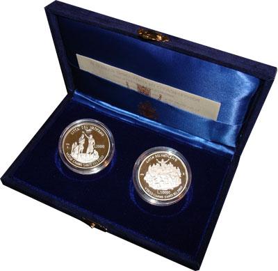 Изображение Подарочные монеты Ватикан Памятный набор 1996 года 1996 Серебро Proof