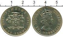 Изображение Монеты Ямайка 1 пенни 1969 Латунь XF
