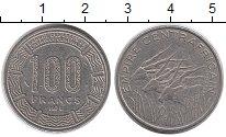 Изображение Монеты Центральная Африка 100 франков 1978 Медно-никель XF