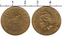 Изображение Монеты Франция Новые Гебриды 5 франков 1975 Латунь XF