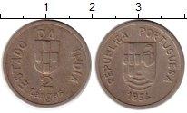 Изображение Монеты Португальская Индия 2 таньга 1934 Медно-никель XF-