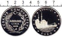 Изображение Монеты Турция 4000000 лир 1999 Серебро Proof-