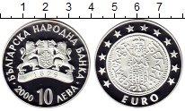 Монета Болгария 10 лев Серебро 2000 Proof- фото