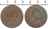 Изображение Монеты Франция Новая Каледония 100 франков 1976 Латунь VF