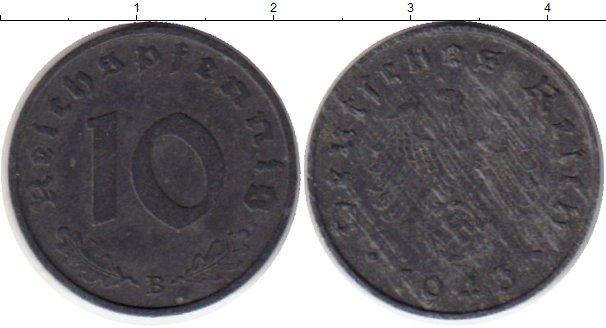 Картинка Монеты Третий Рейх 10 пфеннигов Цинк 1943