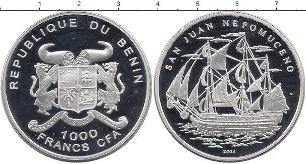 Картинка Монеты Бенин 1.000 франков Серебро 2004