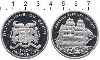 Изображение Монеты Бенин 1000 франков 2005 Серебро Proof