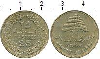 Изображение Монеты Ливан 25 пиастров 1972 Латунь XF-