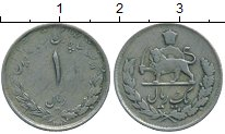 Изображение Монеты Иран 1 риал 1955 Медно-никель VF