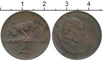 Изображение Монеты ЮАР 2 цента 1966 Бронза XF