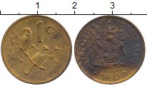 Изображение Монеты ЮАР 1 цент 1980 Бронза VF