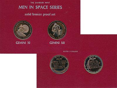 Изображение Подарочные монеты Великобритания Набор жетонов 0 Бронза Proof `Набор из двух жетон
