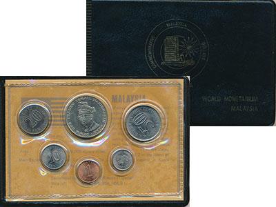 Изображение Подарочные монеты Малайзия Набор 1969-76 года 0  UNC В набор входят пять