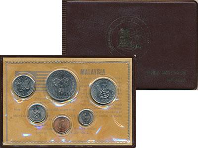 Изображение Подарочные монеты Малайзия Набор 1972-76 года 0  UNC В набор входят пять