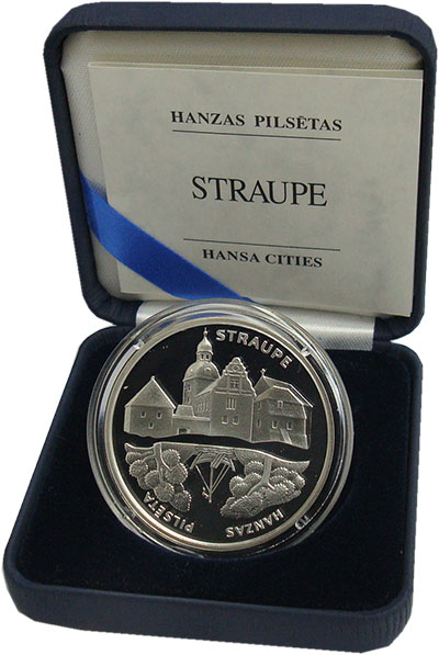 Изображение Подарочные монеты Латвия 1 лат 2006 Серебро Proof `Серия ``Ганзейские