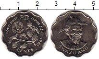 Изображение Монеты Свазиленд 20 центов 1981 Медно-никель XF