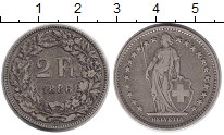 Изображение Монеты Швейцария 2 франка 1886 Серебро VF