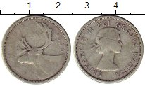 Изображение Монеты Канада 25 центов 1956 Серебро VF