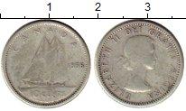 Изображение Монеты Канада 10 центов 1956 Серебро VF