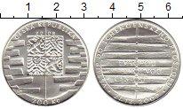 Изображение Монеты Чехия 200 крон 2008 Серебро UNC
