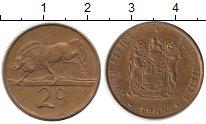 Изображение Монеты ЮАР 2 цента 1988 Бронза XF